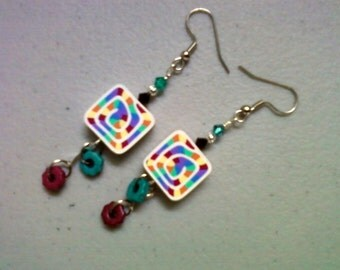 Rainbow Earrings (0562)