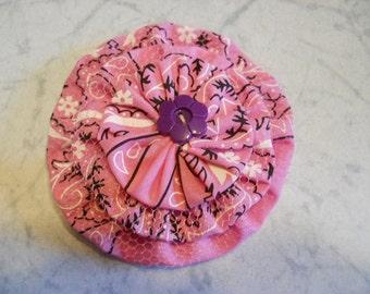 Fabric Flower Pin, Fabric Brooch, Fabric Flower Hair Clip, Bandanna Fashion Hair Clip, Pink Fabric Flower Gift, Purse Decor, Birthday Gift