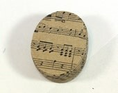 32 Music Note Oval Kraft Gift Tags - 2 inch Party Favor Tags Retail Hang Tags Wedding Shower Tags Graduation Recital Gifts