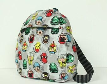 toddler backpack -- marvel super heroes