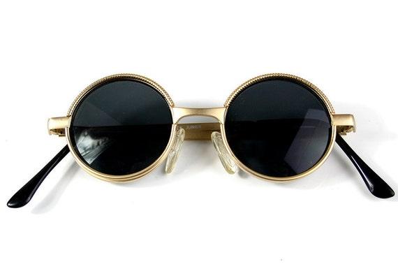 vintage runde steampunk sonnenbrillen kleine runde gold. Black Bedroom Furniture Sets. Home Design Ideas