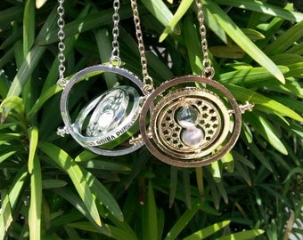 Harry Potter Inspired Time Turner Necklace - Cosplay or Fashion Jewelry - Color Choices Available!