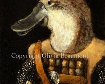 """Platypus art- """"Gallus"""" - ACEO LE"""