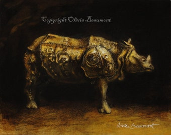 Dürer's Rhinocerous - ACEO LE