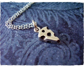 Tiny Cheese Wedge Necklace - Sterling Silver Cheese Charm on a Delicate Sterling Silver Cable Chain or Charm Only