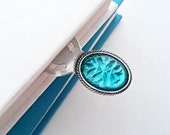 Ice Blue Crystal Bookmark, Light Blue Jewel Place Holder, Gift for Readers Bookworms
