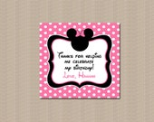 Minnie Mouse Favor Tags, Printable Minnie Mouse Favor Tags