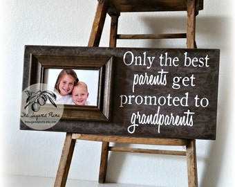 Fathers Day Photo Frame, Fathers Day Gift, Grandpa Gift, Grandpa Photo Frame, First Fathers Day, Grandparents Frame  8x20