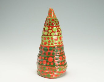Tall Table Top Ceramic Christmas Tree, Hand Made Christmas Tree, Decorative Christmas Tree, Primitive Tree, Christmas Decor