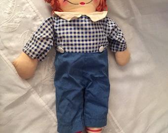 Raggedy Andy Doll/Mid Century Cloth Doll/ Rag Doll/Georgene Novelties Raggedy Andy/ Volland/ Original by Gatormom13 JUST REDUCED