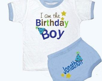 Personalized Boy's 1st Birthday Outfit Birthday Boy Design