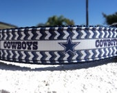 "Dallas Cowboys Dog Collar 1"" wide Quick Release buckle or Martingale collar adjustable - NFL"