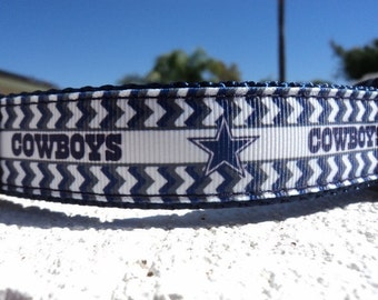 "Dallas Cowboys Dog Collar 1"" wide Quick Release buckle or Martingale collar adjustable - NFL  sm -XL. see info details"