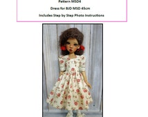 Pattern MSD4 Dress BJD MSD Fit to Kaye Wiggs MSD 45cm