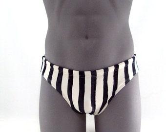 Black Bars - Men Swimsuit-Print swimwear-Men Bathing Suit-Swimwear-Swimsuit-Bathing Suit