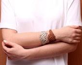 FLORA leather Bracelet (turquoise)