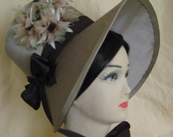 CUSTOM Regency Poke Bonnet. Jane Austen. 'MARY' Your choice of colour/trims/fabric.