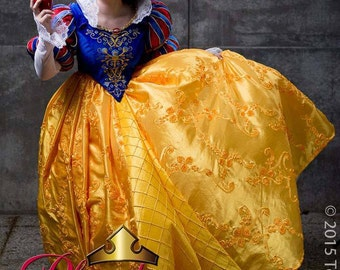 """Fantasy Snow White """"Queen Snow"""" Masquerade or Adult Custom Costume Ball Gown in your Size"""