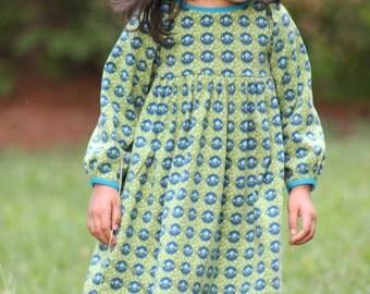 Snapdragon Dress PDF pattern for Knits, Girls Knit Dress Pattern, Long Sleeve Knit Dress, Knit Dress Sewing Pattern
