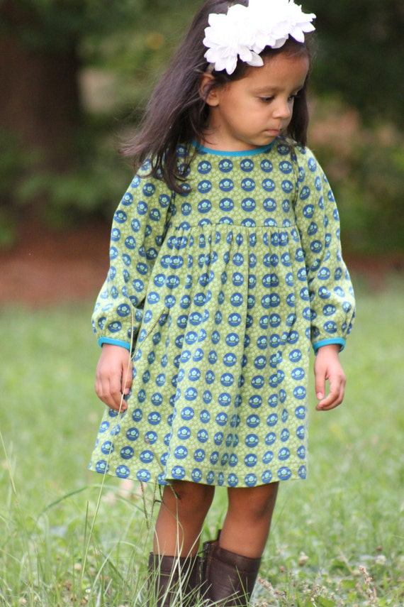 Snapdragon Dress PDF pattern for Knits Girls Knit Dress