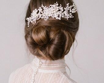 Karina Silver Bridal Headpiece Wedding Comb