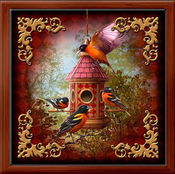 Lenormand Birds Wood Box