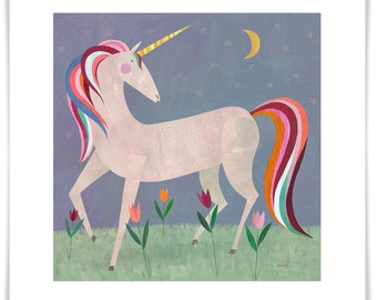 Fairytale Unicorn Art Print