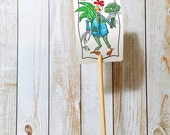 Garden Sign Parsley Herb Metal Sign on Bamboo Stake UV Protected Against Fading 2x3 sign 12 inch stake Customizable