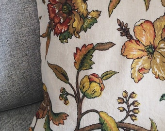Vintage floral pillow cover CLEARANCE