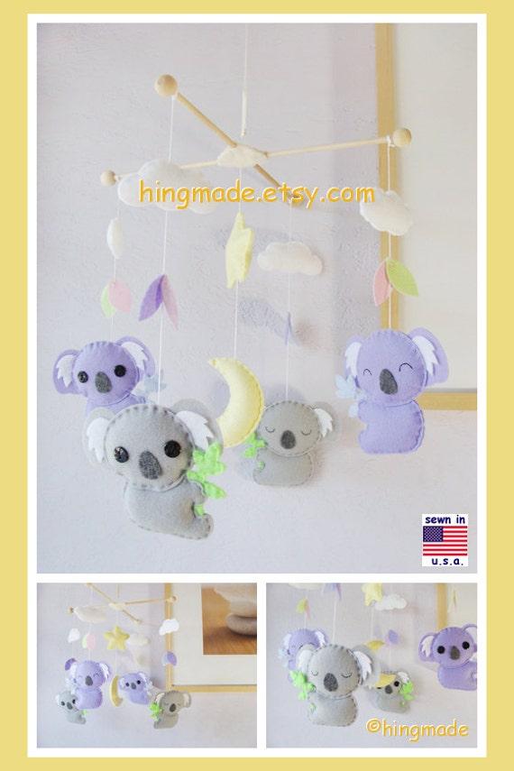Koala Mobile Baby Nursery Mobile Modern Mobile By Hingmade