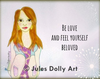 """Muse Mantra Notecard - """"Be Love and feel yourself Beloved"""""""