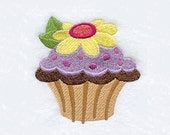Daisy Flower Cupcake Tea Towel | Hand Towel | Personalized Kitchen Towel | Embroidered Kitchen Towel | Embroidered Tea Towel | Hand Towel
