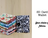 SD Memory Card Holder Wallet - You Choose the Fabrics - Made to Order