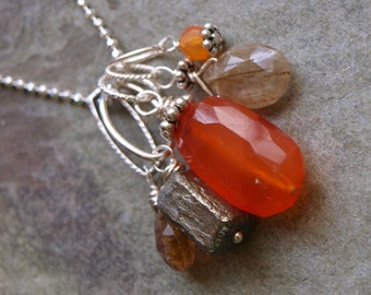 Carnelian Charm Pendant- Create Your Own Charm Necklace