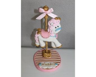 Custom Carousel Horse Cake Topper for Birthday or Baby Shower