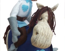 Sir Cloth and Cedar Horse - digital sewing pattern pack