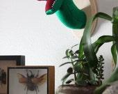 Jurassic World Velociraptor Wall Mounted Head Nursery Decor Vegan Faux Taxidermy