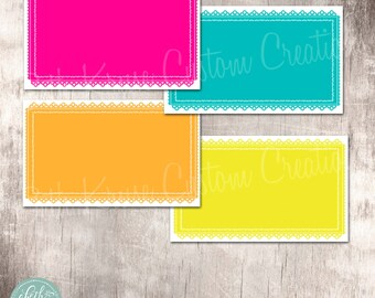 Fiesta Party Food Labels Instant Download by Beth Kruse Custom Creations