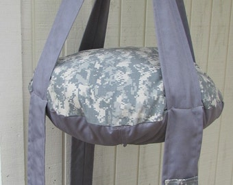 Cat Bed NY/CO Ripstop Military Grey Camouflage Hanging Cat Bed, Double Kitty Cloud, Pet Furniture, Gift