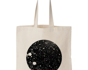 Moon / Screen printed tote bag