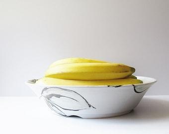 Naturalist Pottery Bowl - Vintage Studio Art Pottery - Minimalist Design Serving Bowl - Handmade by K Taylor - Neutral Natural Color Dish