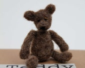 Teeny jointed needle felt Teddy Bear Kit