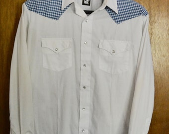Vintage Karman Western Mens Shirt