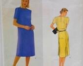 Womens Dress Pattern, Size 12 Vogue 2454, American Designer Series, Un Cut Sewing Pattern