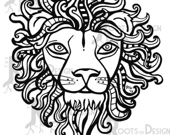 httpsimg0etsystaticcom06316020264il_340x2 - Lion Coloring Pages