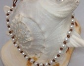 Freshwater White Pearls and Knots All Around Necklace