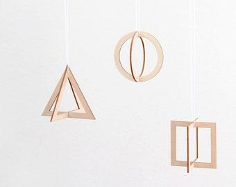 Geometric Wood Pendants SNUG.TRIO