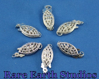 Sterling Silver Filigree Clasp 15x6mm 60315110
