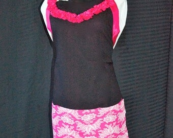 Lei Apron - Pink or Red