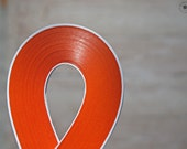 "Dark ORANGE paper strips //  Paper Quilling Strips //  ORanGE // 100 STRIPS // 2 mm wide //  297 mm 11,7"" long"
